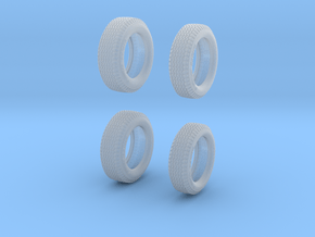 1963 Dunlop F1 tires 1/24 scale in Smooth Fine Detail Plastic