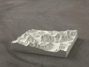 4''/10cm Baltoro Glacier and K2, Sandstone in Natural Sandstone