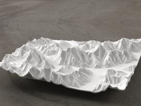 6''/15cm Baltoro Glacier and K2, WSF in White Natural Versatile Plastic