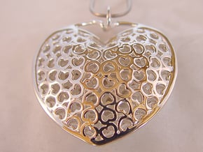 Heart Pendant in Polished Silver