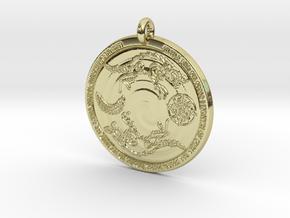 Máni, Sunna, Hati og Sköll in 18k Gold Plated Brass