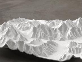 8''/20cm Baltoro Glacier and K2, WSF in White Natural Versatile Plastic