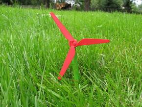 Chopstick Windmill - Slim blades in Red Processed Versatile Plastic