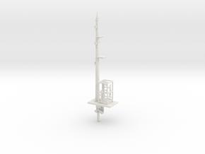 NSWGR 7mm Distant Signal Lower Quadrant in White Natural Versatile Plastic
