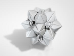Escher Flower in White Natural Versatile Plastic