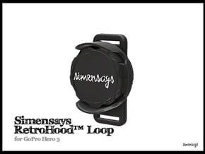 Simensays RetroHood™ (Loop), GoPro Lens hood in Black Natural Versatile Plastic