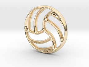 Volleyball Charm - 11mm in 14K Yellow Gold