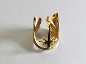 Star Wars Jedi, Size 7 in 14k Gold Plated Brass