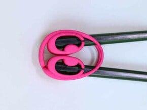 Chopsticks Helper in Pink Processed Versatile Plastic