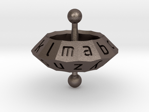 Space Alphabet (large) in Polished Bronzed Silver Steel