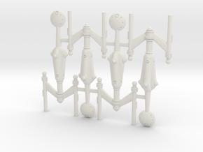 Invader Frigate 4 Sprue in White Natural Versatile Plastic