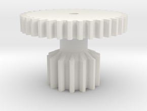 Gear 2 Strengthened for cheap Nylon in White Natural Versatile Plastic