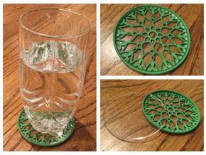 "3-1/4"" Coaster 7 (Insert) in Green Processed Versatile Plastic"