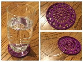 """3-1/4"""" Coaster 3 (Insert) in Purple Processed Versatile Plastic"""
