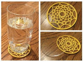 "3-1/4"" Coaster 6 (Insert) in Yellow Processed Versatile Plastic"