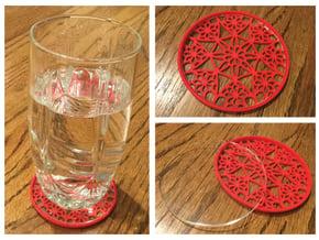 """3-1/4"""" Coaster 4 (Insert) in Red Processed Versatile Plastic"""