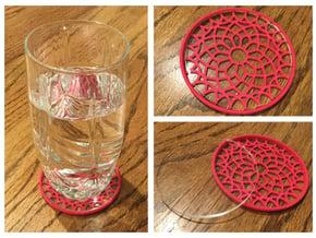 """3-1/4"""" Coaster 5 (Insert) in Pink Processed Versatile Plastic"""