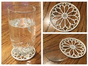"""3-1/4"""" Coaster 1 (Insert) in White Processed Versatile Plastic"""