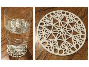 "3-1/4"" Coaster 4 (open) in White Processed Versatile Plastic"