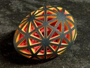 Mosaic Egg #9 in Full Color Sandstone