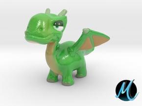 Dragon Sculpture - Gramen Dragon in Glossy Full Color Sandstone