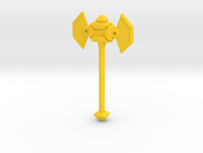 MiniFig NK Axe in Yellow Processed Versatile Plastic