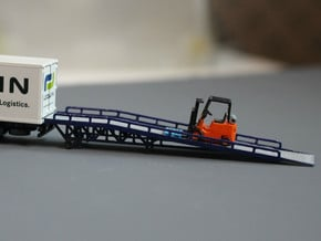 N Scale Forklift Ramp in Smooth Fine Detail Plastic