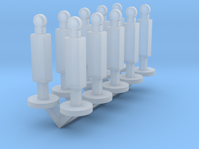 Panel Stanchion Barricade 1-87 HO Scale in Smooth Fine Detail Plastic