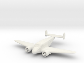 1/200 Beechcraft Model 18 in White Natural Versatile Plastic