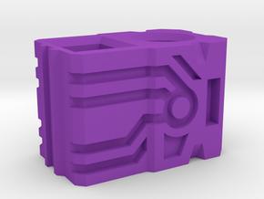 Shockwave gun handle(short) in Purple Processed Versatile Plastic