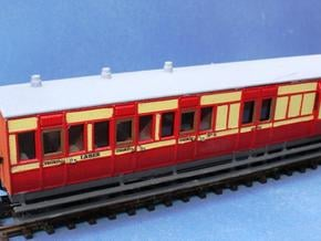 4mm scale OOn3 / 0012 LBER Brake Third Carriage in White Natural Versatile Plastic