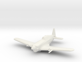 Morane-Saulnier M.S.406 in White Natural Versatile Plastic: 1:200