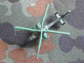 1/300 Chinese WZ-19 Scout Helicopter in White Natural Versatile Plastic