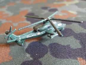 1/300 Chinese WZ-10 Attack Helicopter in White Natural Versatile Plastic