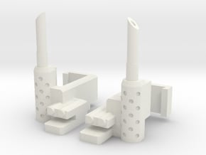 Combiner Wars Optimus Prime Smokestacks in White Natural Versatile Plastic