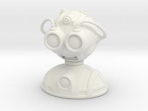 'Robust' robot bust design, model M7-004 in White Natural Versatile Plastic