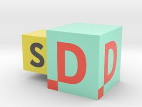 LogoSD in Glossy Full Color Sandstone