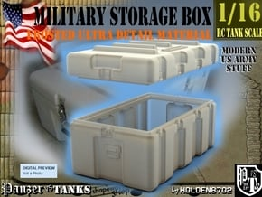 1-16 Military Storage Box FUD in Smooth Fine Detail Plastic