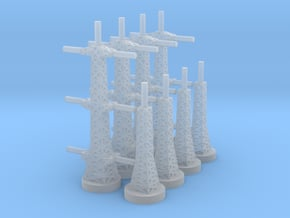 Radar Towers 2x4 Large in Smooth Fine Detail Plastic