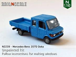 Mercedes-Benz 207D Doka (N 1:160) in Smooth Fine Detail Plastic