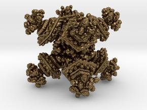 Benesi Pingeon D6 Dice in Natural Bronze
