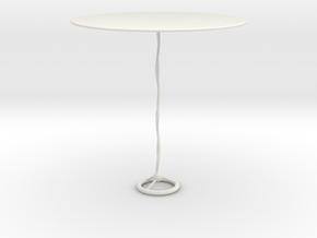 Modern glass table in White Natural Versatile Plastic