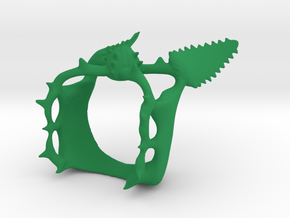 Fake Plant Energy Bracelet in Green Processed Versatile Plastic
