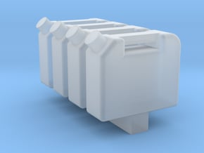 Gas Can 1-87 HO Scale 4 Pack in Smooth Fine Detail Plastic