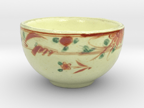 The Asian Teacup-mini in Glossy Full Color Sandstone