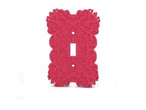 Light Switch in Pink Processed Versatile Plastic