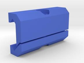 DIY Picatinny Mount (50 mm) in Blue Processed Versatile Plastic