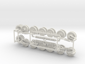 1:16scale TYPE97 TANK  Wheels set  Ver1.1 in White Natural Versatile Plastic