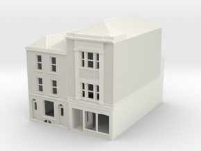 RHS-7-8 N Scale Rye High Street building 1:148 in White Natural Versatile Plastic