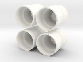 1/64 Dual Rims for Standi 20.8R38 in White Processed Versatile Plastic